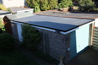 [New rubber garage roof]