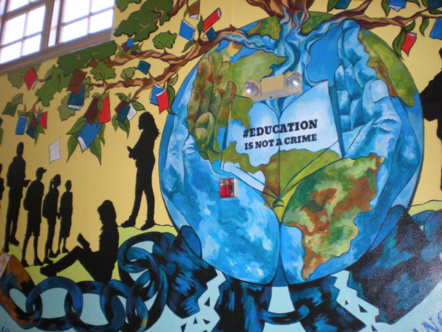 The bah s of the united states for Education mural
