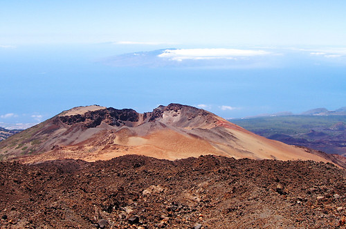 Islands of La Gomera, El Hierro from Pico Viejo, Mount Teide, Tenerife
