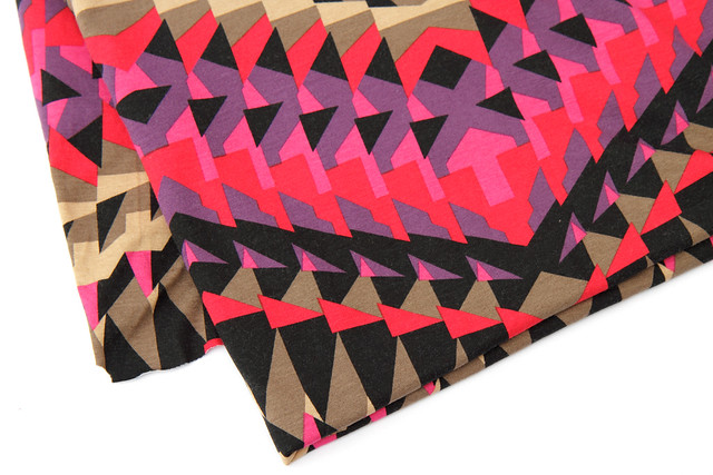 Geometric print jersey from Montreux Fabrics