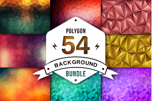 14 Abstract Polygon Christmas Backgrounds