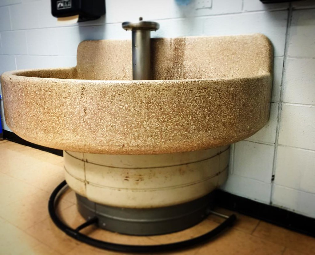 School Bathroom Sinks : Behold: the most perfect school bathroom sink in the histo? Flickr