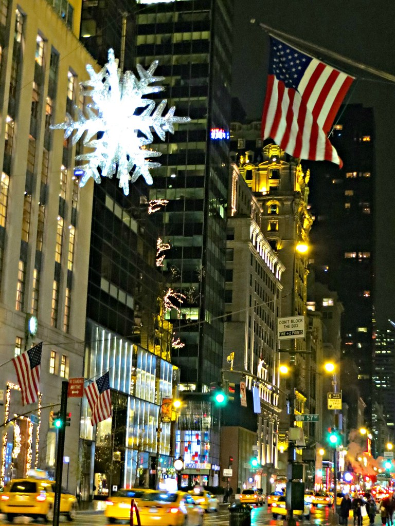 the unicef snowflake  suspended over fifth avenue at 57th  u2026