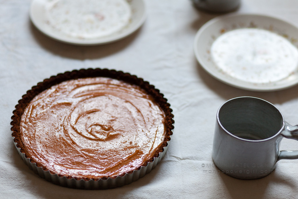 sweet potato tart with ginger snap crust
