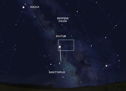 VCSE - Mai kép - Messier 16 - keresőtérkép