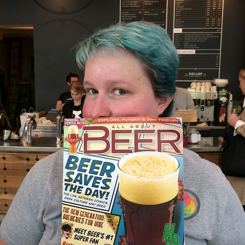 I'm so excited to be holding a copy of a magazine I'm in AND is about comics and beer. I'm not a comics nerd, but I might end up being one eventually if my friend Rick has anything to do with it.