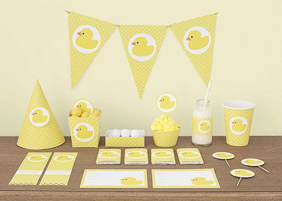 kit de fiesta patitos amarillos