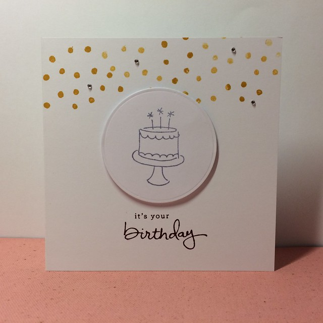 Stampin Up birthday card by StickerKitten with Endless Birthday Wishes stamps