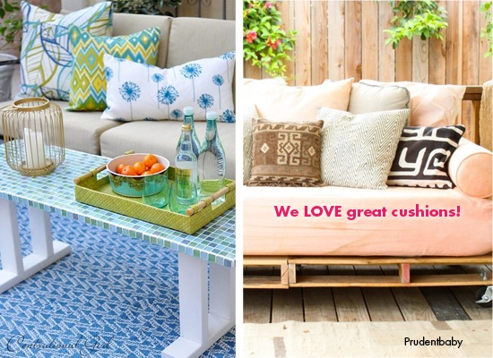cushions add the finishing touch to any outdoor living space