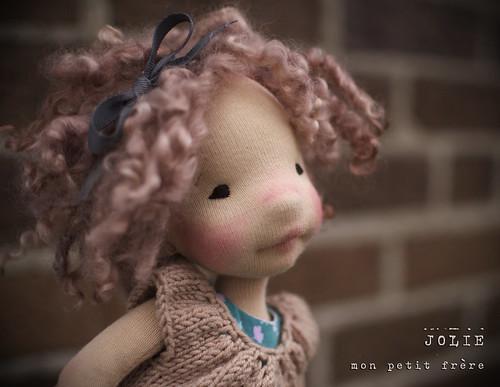 "Jolie- 12"" natural fiber art doll by Mon Petit Frere"
