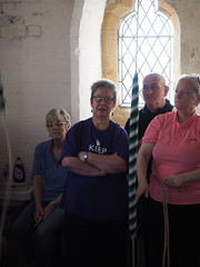 Photo OMD-M1_20151008_PA080016 of 'Cumbrian Codgers' ringing inside tower at St James, Barrow-in-Furness