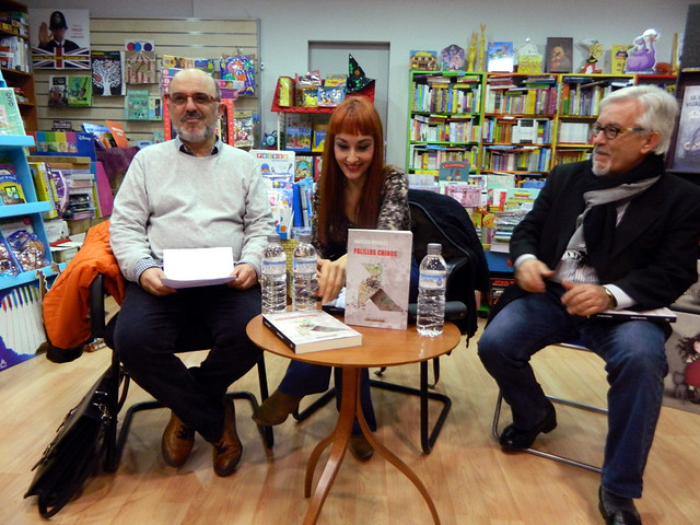Presentación de Palillos Chinos en Librería Senda-Perruca, Teruel 19/11/2015