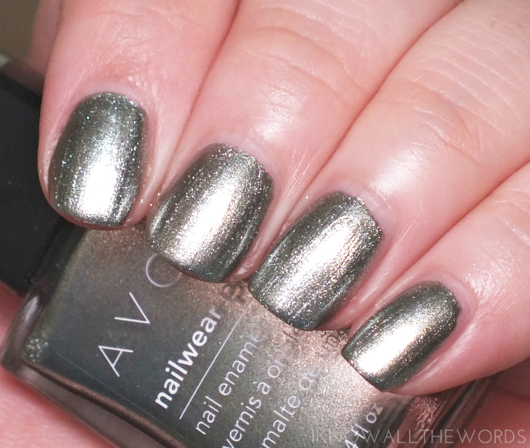 Avon Mega Metals nailwear pro + green sheen