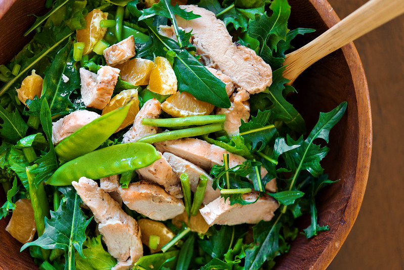 asian chicken salad with crispy noodles #everydayeffortless