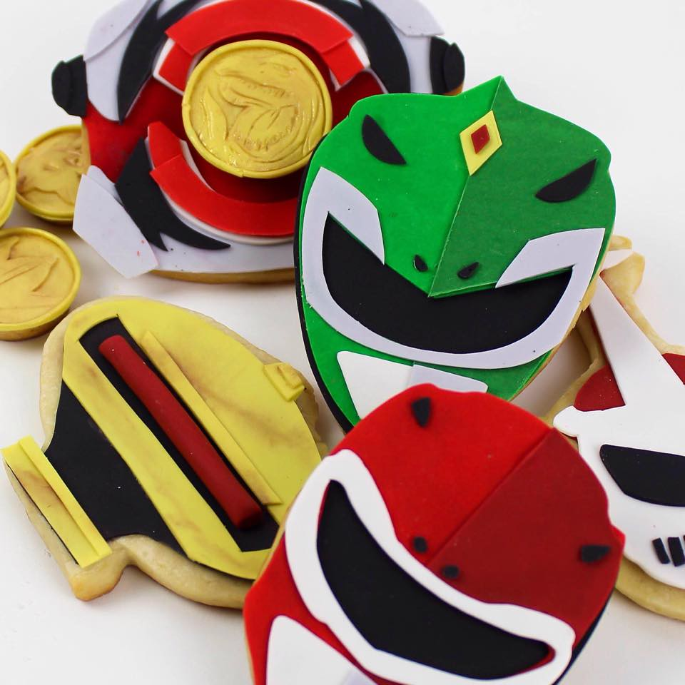 Power Rangers cookies by Nerdache Cakes