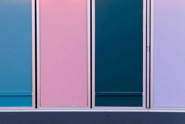 pastel coloured cladding