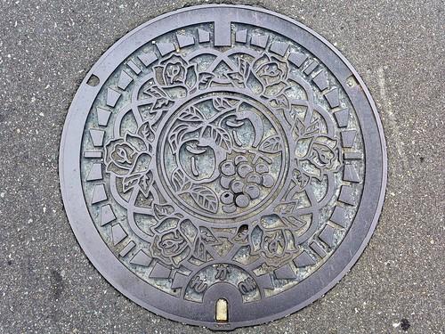 Sakaki Nagano, manhole cover (長野県坂城町のマンホール)