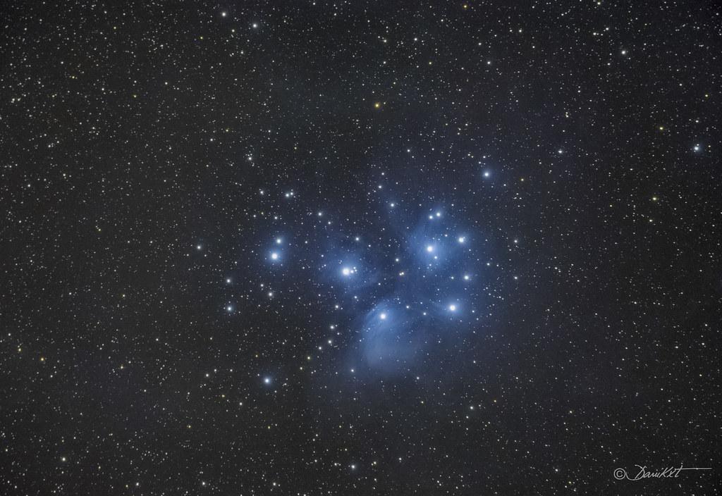 Cúmulo de las Pléyades M45 Dani Caxete