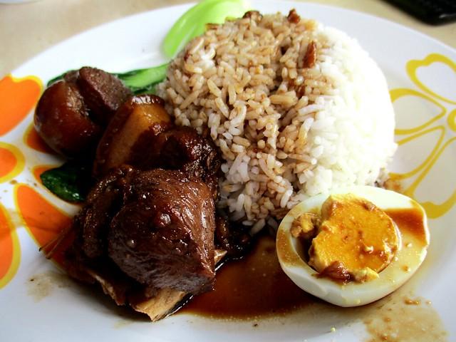 Champion Corner black vinegar pork leg rice 1