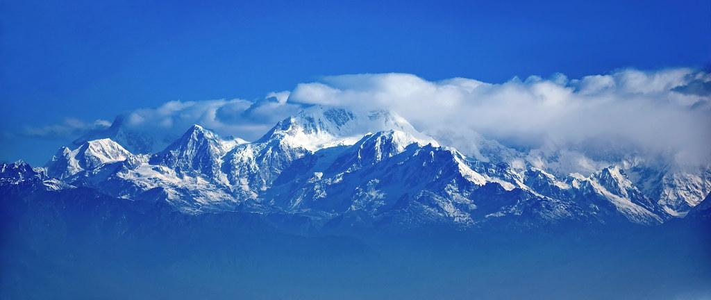 India - West Bengal - Himalaya Mountain Range With Mount K ... Indo Gangetic Plain Map