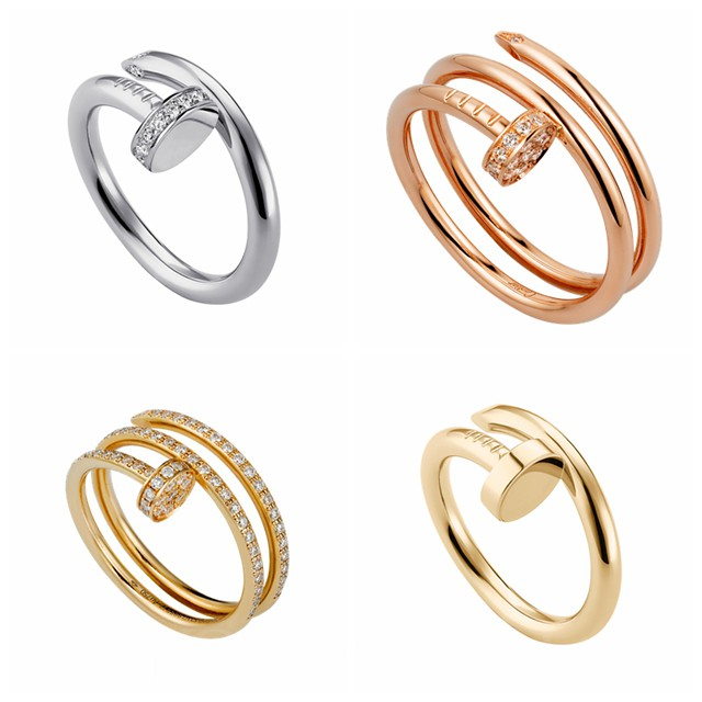 Cartier Juste UN Clou series 18K white gold, rose gold, gold ring, set with or without diamonds