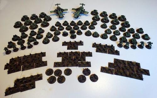 Epic - Space Marine Salamander Army