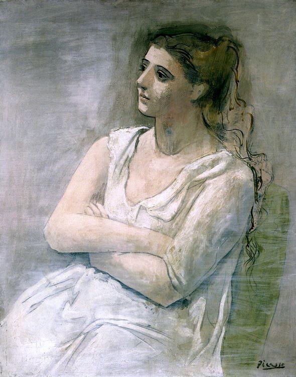 La femme en blanc (Sarah Murphy), 1923 // by Pablo Picasso ...