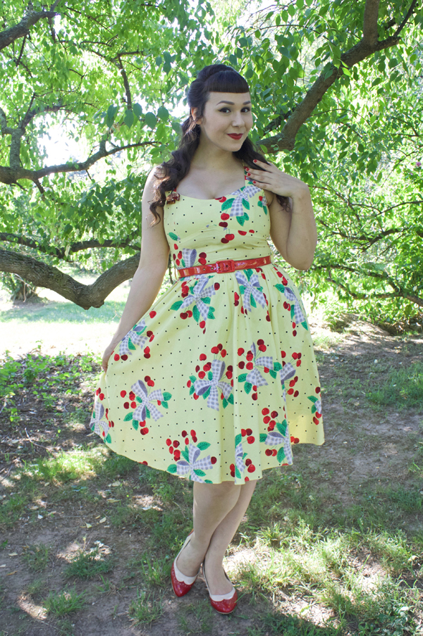 ModCloth I'm All Cheers Dress Cherries Jubilee