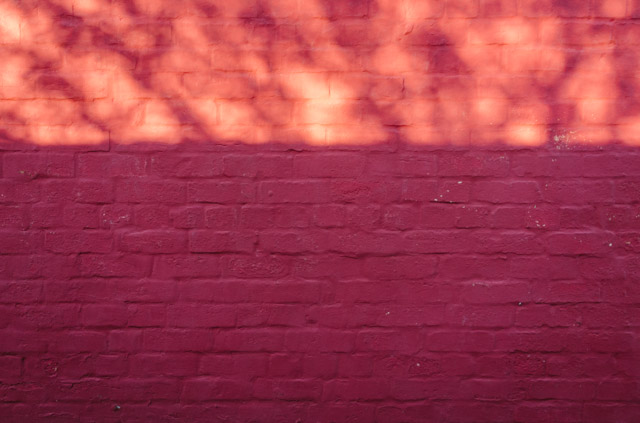 pink red shadow wall