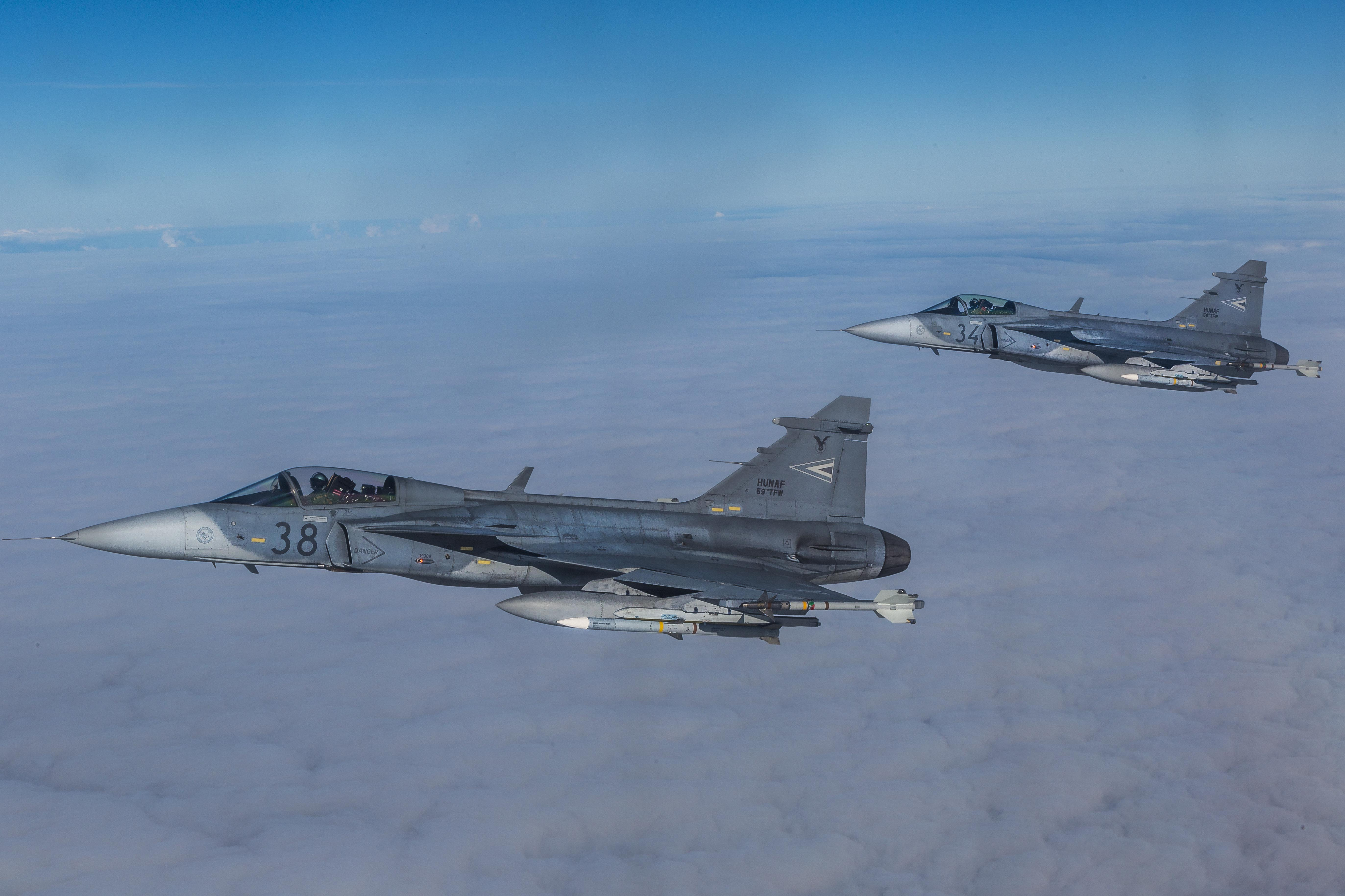 Hungarian Air Force Gripen fighters