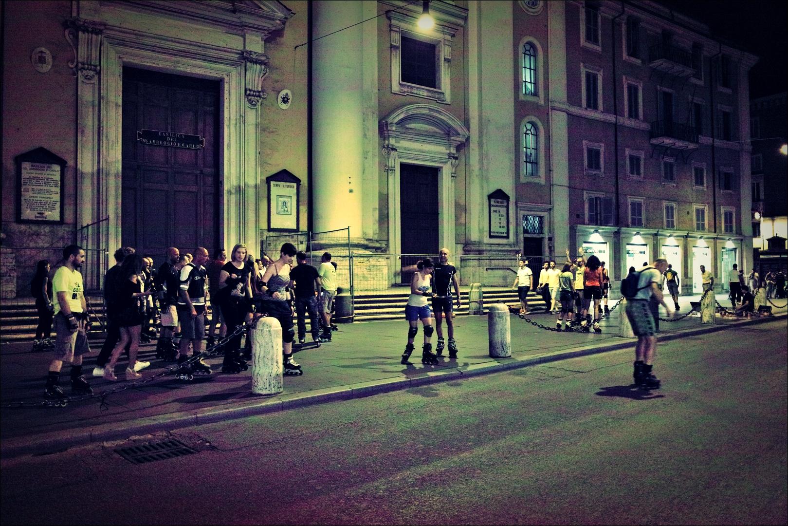인라인 동호회-'로마의 밤거리'