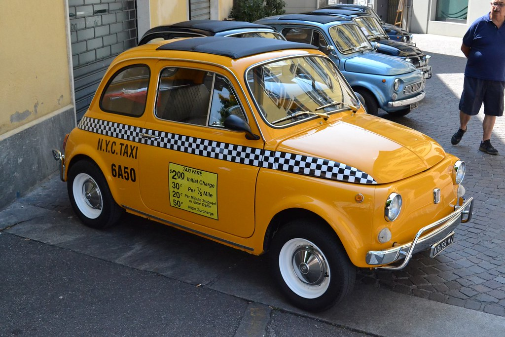 fiat 500 new york taxi manuel tassi flickr. Black Bedroom Furniture Sets. Home Design Ideas
