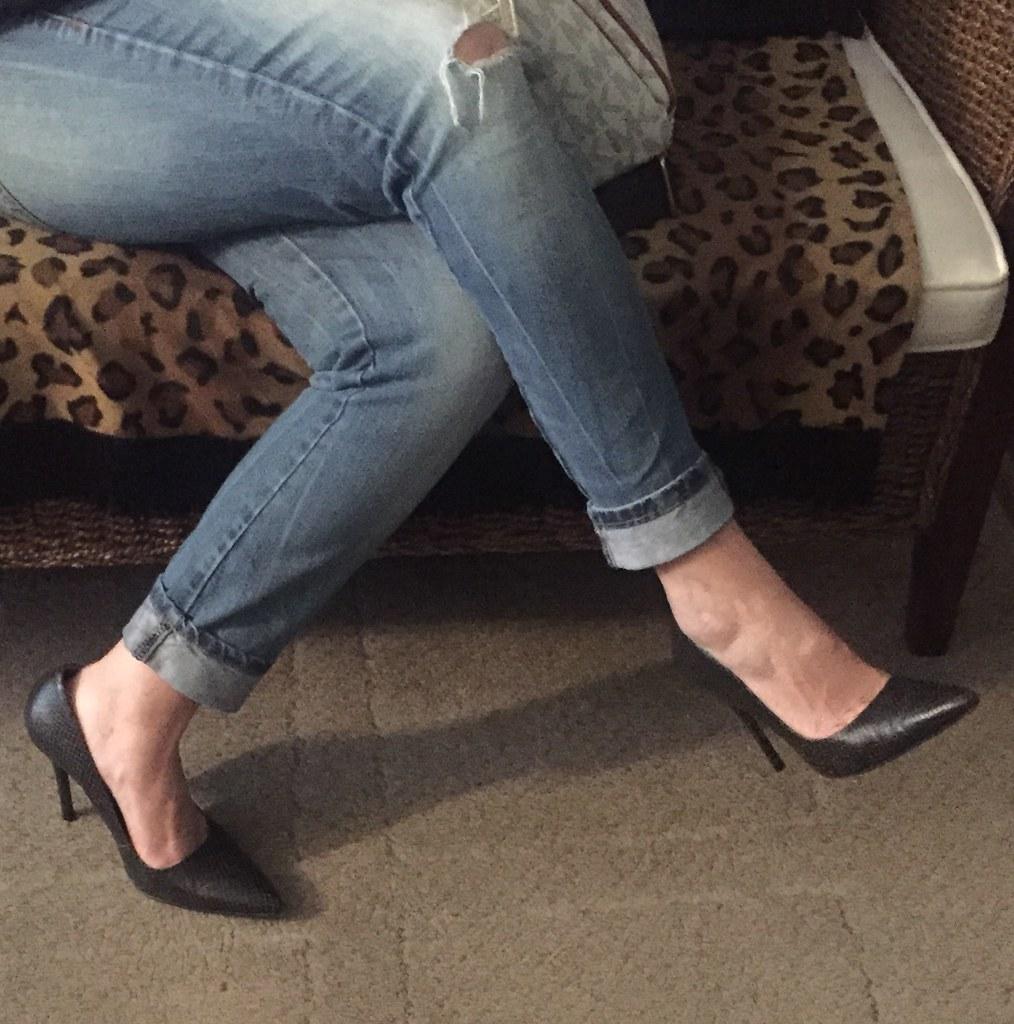Wifes high heels