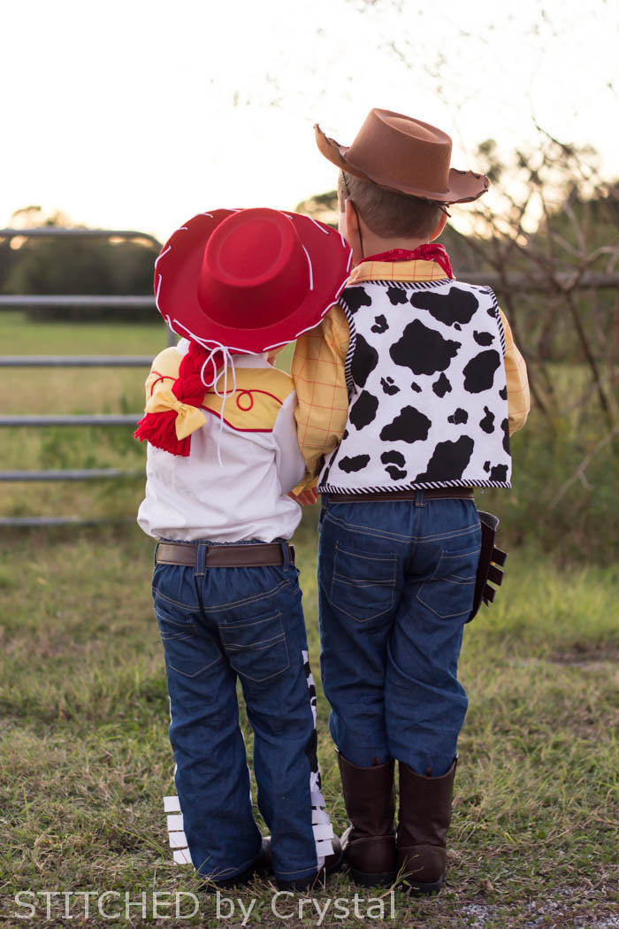 And of course since they coordinated I have to get the whole family in on it! My husband isnu0027t crazy about costumes but I have him talked into to dressing ...  sc 1 st  STITCHED by Crystal & STITCHED by Crystal: Halloween 2015 - Woody and Jessie