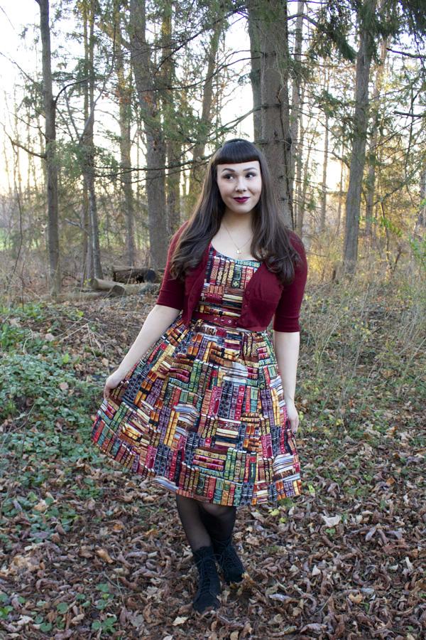book print dress