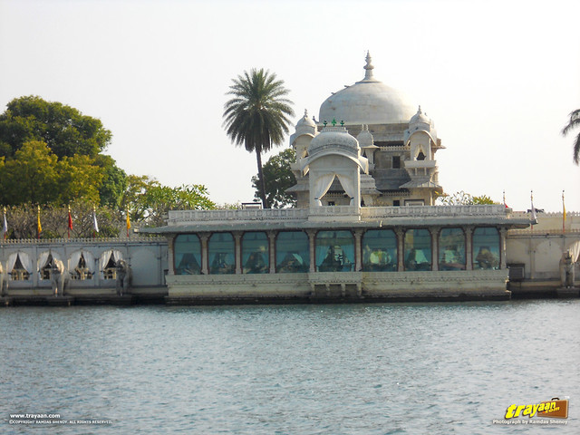 A view of Jag Mandir Palace in Pichola Lake in Udaipur, Rajasthan, India