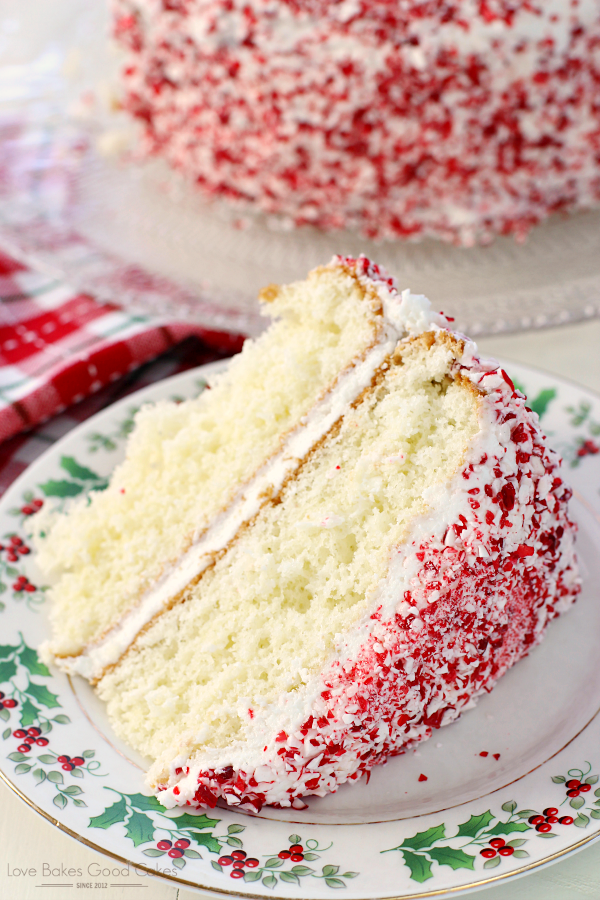 Dazzle you friends and family with this simple and delicious Holiday Peppermint Cake! It just may become a holiday tradition! AD