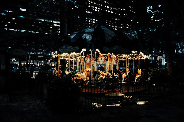 Merry-go-round in Bryant Park, NYC