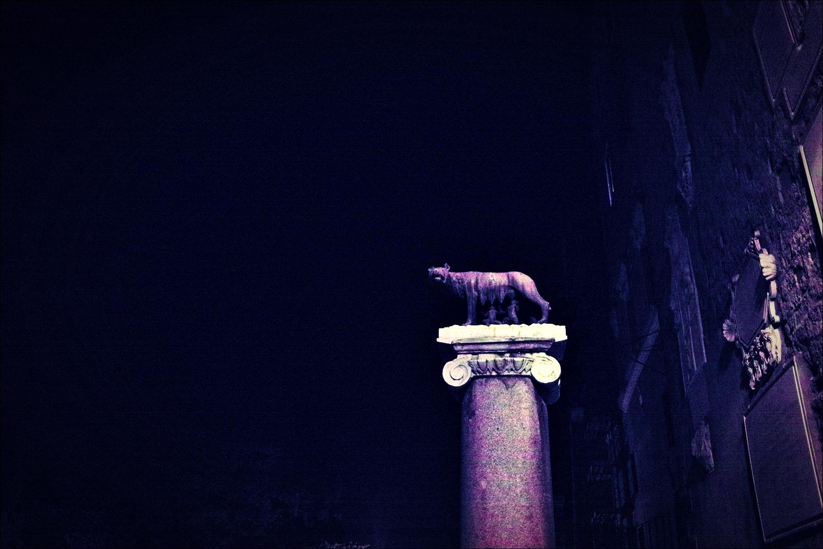 로물르스와 레무스 -'로마의 밤거리'
