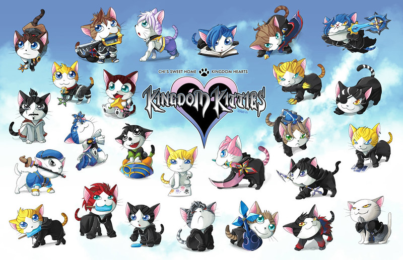Cats vs Kingdom Hearts by suzuran