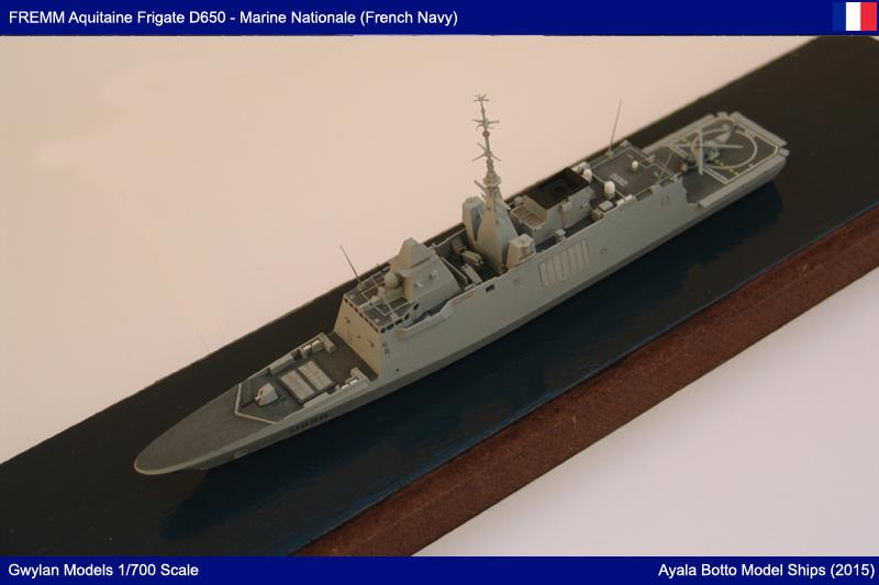 FREMM Aquitaine D650 Frégate ASM - Gwylan Models 1/700 par Ayala Botto 22999654742_c3e8e60375_o