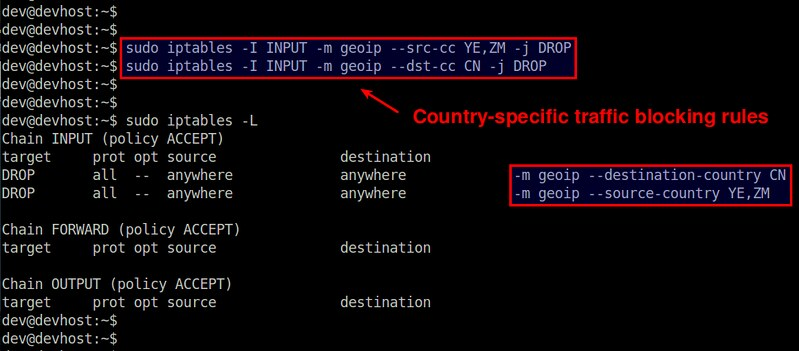 How to block network traffic by country on Linux - Xmodulo