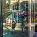 New York City Street Scenes - Reflection in Store Window, Sixth Avenue, Herald Square
