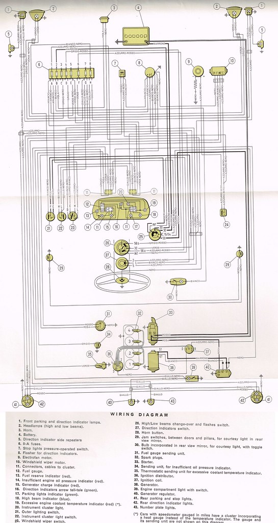 fiat ac wiring diagram fiat 500 wiring diagram wiring diagram fiat 850 special | electrical diagram ...