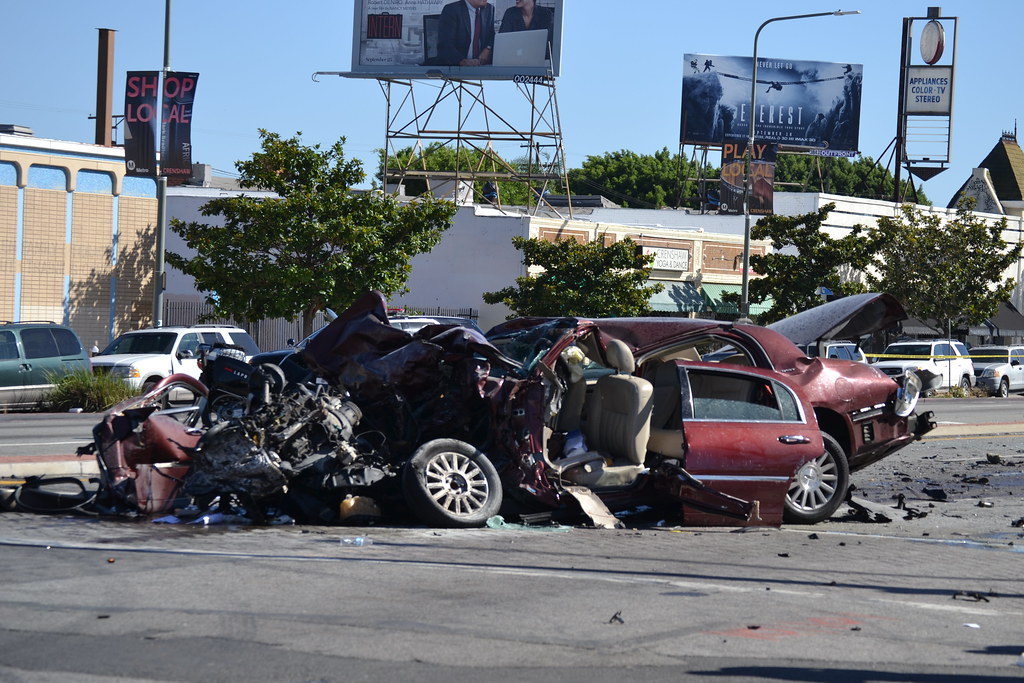 Crash Of Cars >> Vehicular Carnage Down on Crenshaw - Wrong way driver | Flickr