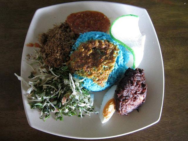 Keropok and nasi kerabu