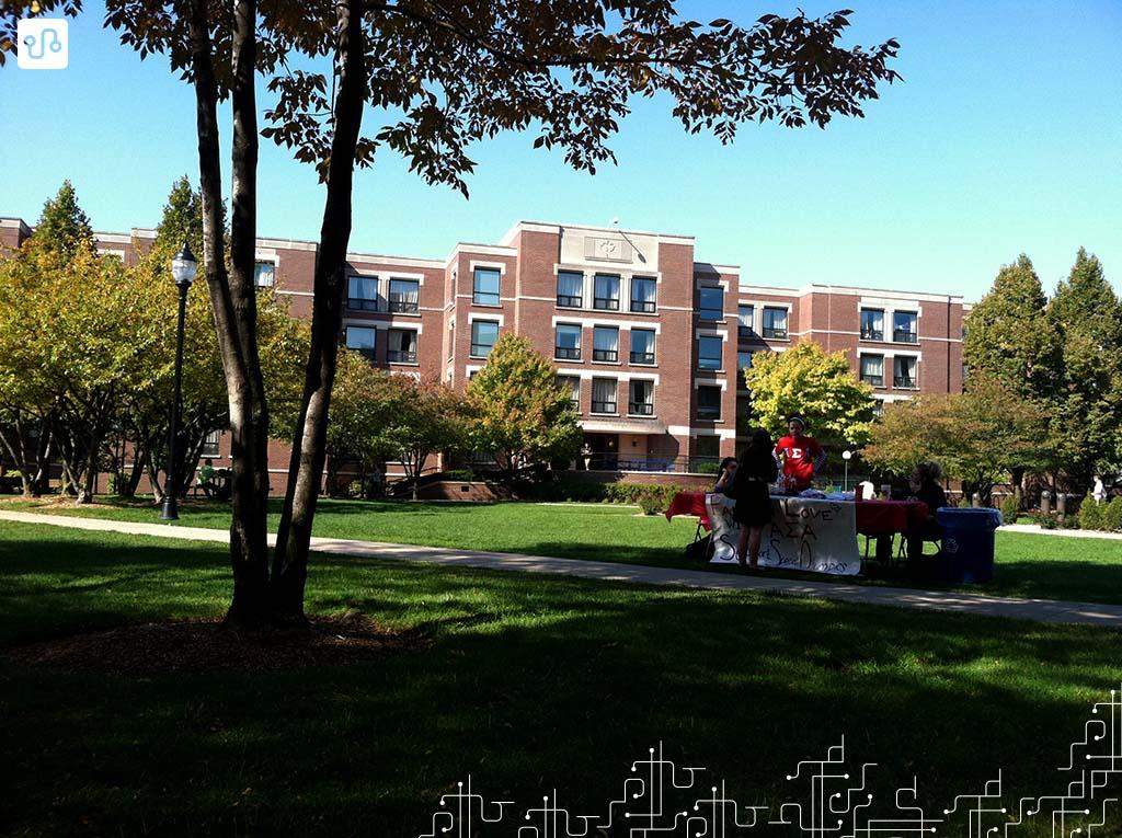 Um dos prédios da DePaul University no Lincoln Park Campus