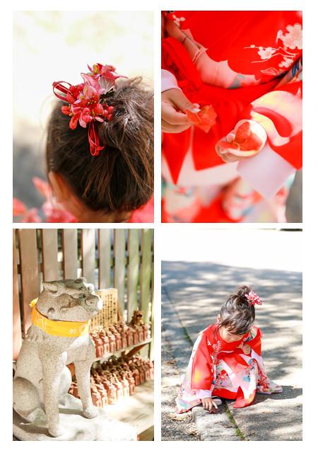 七五三写真撮影 女の子 着物 和装 瀬戸市 深川神社 ロケーション撮影 自然 おしゃれ 出張撮影 窯垣の小径