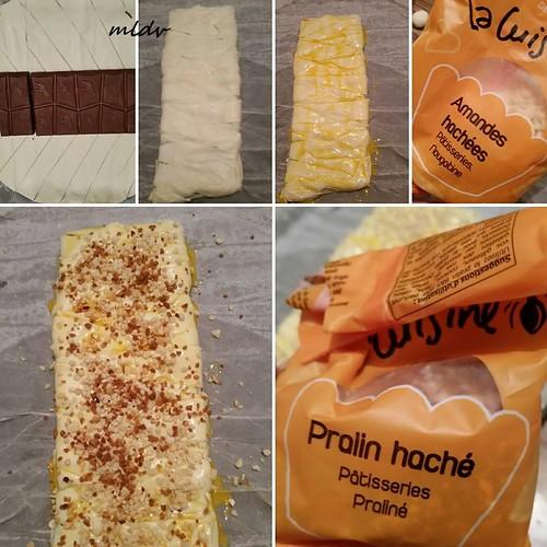 friand au chocolat et à la praline