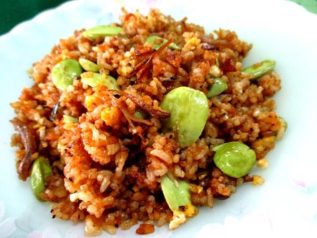 Nasi goreng sambal with petai 2